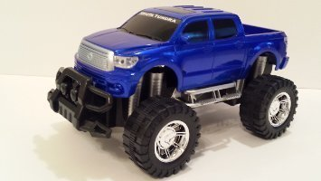 Friction Powered Toyota Tundra Pickup Truck 1:16 Scale, Color: Electrifying Blue