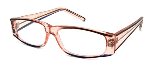 Edge I-Wear Women's Rectangular Frame Two Tone Color Plastic Reading Glasses - Plastic Reading Cheap Glasses