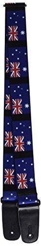 Buckle-Down GS-W30110 - Correa para guitarra (banderas australianas, 5 cm de ancho, 74 cm de longitud)