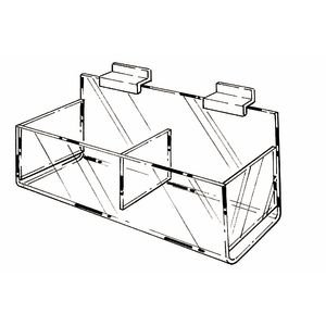 Slatwall Acrylic Hosiery Bins Clear 16 x 7 x 4 3/4