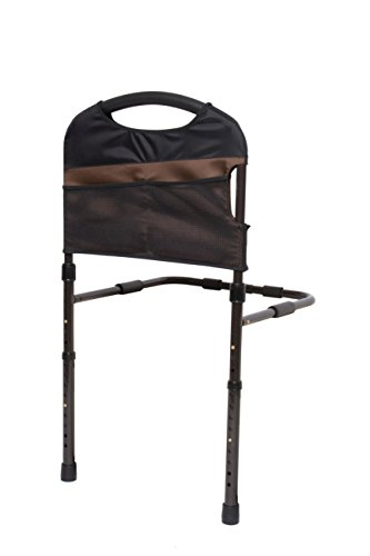 Stander Stable Adult Home Bed Rail - Elderly Support Bed Handle + Adustable Legs Floor Support & Pouch by Stander