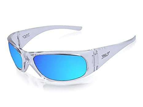 dbe3d8e4296 Amazon.com  ICICLES BLC-1 Agent Blue Mirror Lens Sunglasses with Crystal Frame  Color  Clothing