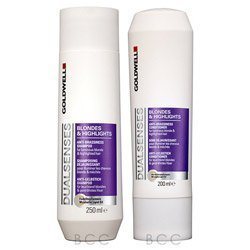 GoldWell Dual-senses blondes and highlights anti- Brassiness Shampoo and Conditioner 10.1 fl.oz./300ml (Shampoo Goldwell Blonde)