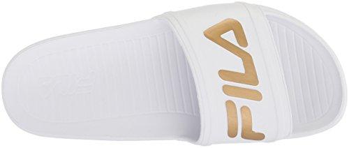 Femme White Fila5sm00002 Sleek Lt Gold white Slide metallic qtOUwOH