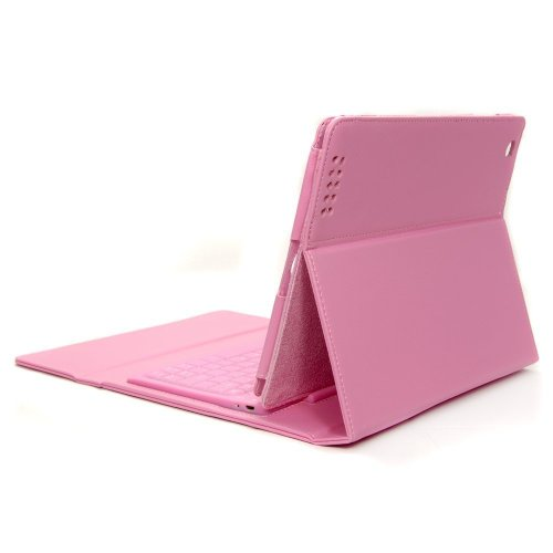 Pink Leather Case with Bluetooth Wireless Keyboard For Apple iPad 2 3 4 Photo #2