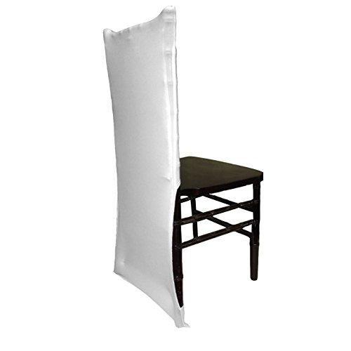 Chiavari Chair Covers (LA Linen Spandex Chiavari Backrest Chair Cover - Pack of 1 - White)