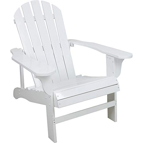 (Leigh Country Classic White Painted Wood Adirondack Chair)