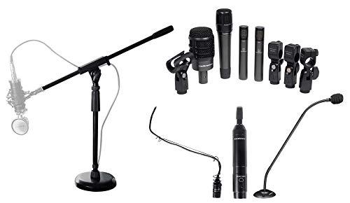 Audio Technica 4) Drum Microphone Kit+Choir+Podium Mics For Church Sound Systems