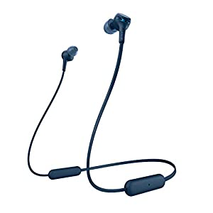 Sony WI-XB400 Wireless Bluetooth Extra Bass in-Ear Headphones with Mic, 15 Hours Battery Life, Quick Charge, Magnetic Earbuds, Tangle Free Cord and with 1 Year Warranty – Blue