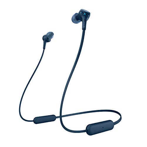 Sony Wi-Xb400 Wireless in-Ear Extra Bass Headphones, Blue (WIXB400/L)