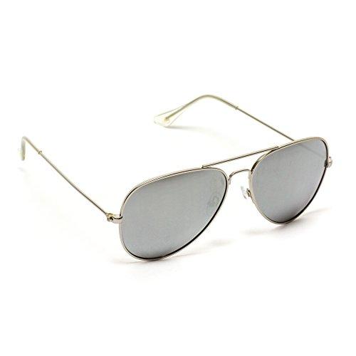 prémium y diseño Pro Gafas Plateado clásicas nbsp;estilo WearMe modernas polarizada lente de Plateado con aviador de sol 7AIxwdO