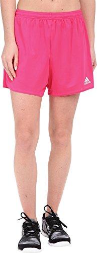 adidas Women's Soccer Parma Shorts, Shock Pink/White, Large