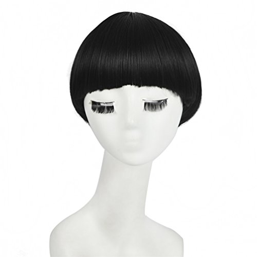 SiYI Fashion Girl Star BOB Sexy Wig Synthetic Hair 11.8 Inch Short Wigs Black (Funny Mens Homemade Halloween Costumes)