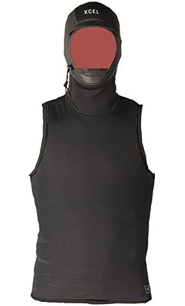 Medium//2mm XCEL Fall 2017 Celliant Jacquard Vest with G/&B Hoody Black