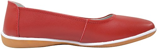 Ladies / Womens Leather Slip On Summer / Holiday / Casual Pumps / Shoes / Sandals Strawberry p8vBY