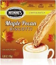 Nonni's Biscotti Fall Flavors- One Box Each of Maple Pecan and Pumpkin Spice