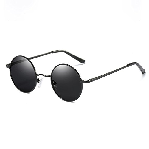 Polarisées Boîte Lunettes soleil Modèles Masculins de Petite HL Des Pilote Rétro Petit lunettes Visage Ronde Visage Lunettes x8anESO