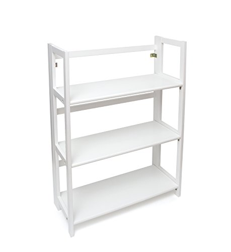 Lipper International 517W 3-Shelf Folding Bookcase, 27.25
