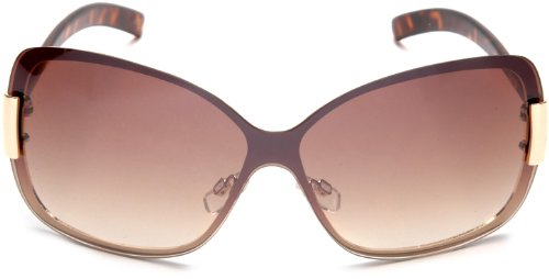 596812bb1102c Amazon.com  Steve Madden Women s S5133 GLD Shield Sunglasses