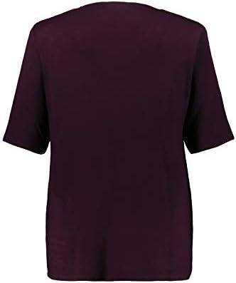 Ulla Popken Selection 749297 damska koszulka 2-w-1, z brokatem, pÓłrękaw: Ulla Popken: Odzież