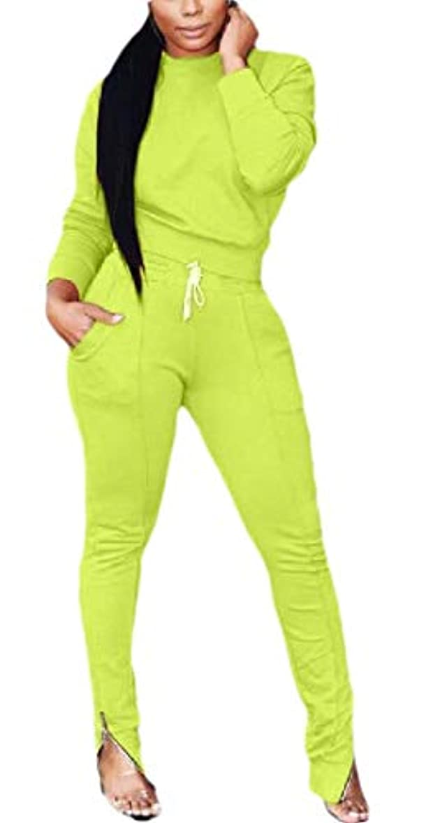 抗生物質神経障害導出maweisong Womens 2 Pieces Long Sleeve T-Shirts+ Long Bodycon Pant Tracksuits Sweatsuits Jumpsuits
