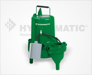 Hydromatic Submersible - Hydromatic SK50A1 Submersible Sewage Ejector Pump (Automatic), 20' Power Cord
