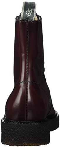 Militar Rot O'polo Bootie Mujer 70814266301112 Marc Flat Heel Lace Botas bordo P60RqT0
