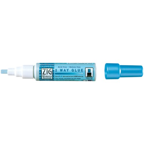 Zig Memory System Medium Two Way Glue Pen Bulk, Chisel Tip (Pack of 12) ()