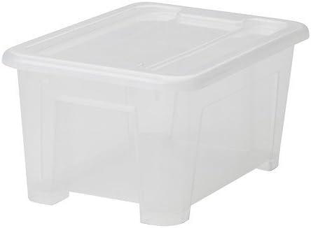 IKEA SAMLA - Caja de 5 L con tapa: Amazon.es: Bricolaje y herramientas