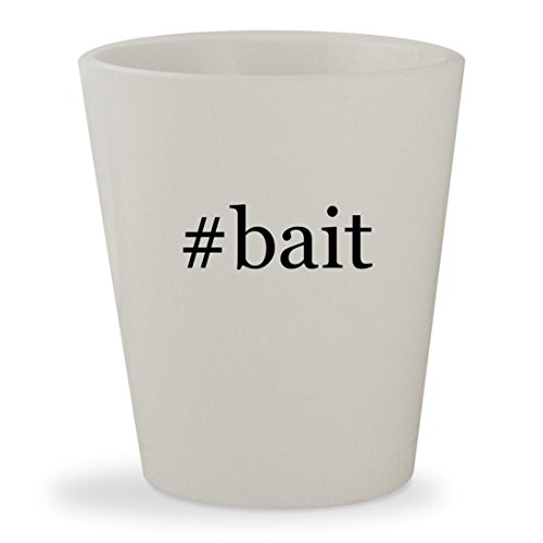 #bait - White Hashtag Ceramic 1.5oz Shot (Squirrel Bait Stations)