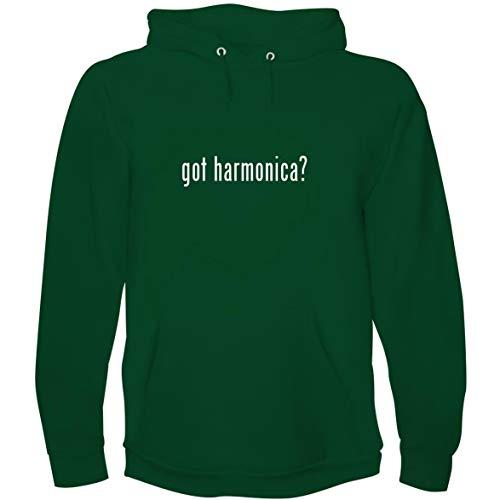 - The Town Butler got Harmonica? - Men's Hoodie Sweatshirt, Green, Large