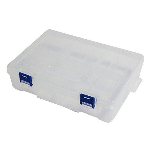 Kurtzy TM Aufbewahrungsbox Transparent Kunststoff mit herausnehmbaren Lagen-8 Aufteilungen-Werkzeug, Basteln, Selbermachen