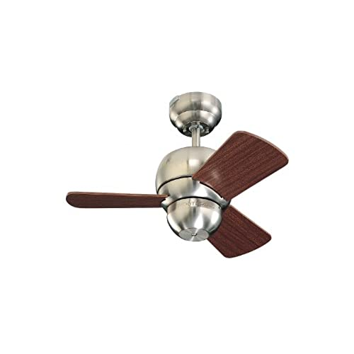 Unique ceiling fans with lights amazon monte carlo 3tf24bs micro 24 ceiling fan 24 brushed steel mozeypictures Image collections