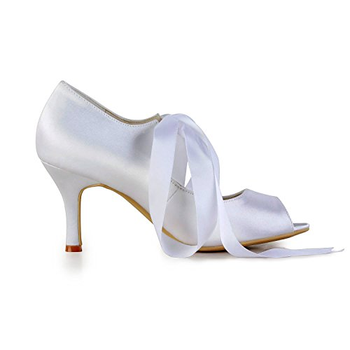 Minitoo , Damen Pumps White-9cm Heel