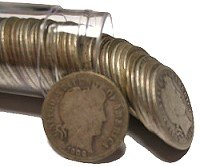 Barber Dime Roll (50 Coins)