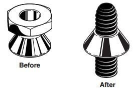 4 Sign Mounting Hardware Carriage Bolt with Security Nut 5//16-18 X 2 for U Channel Post County Solutions
