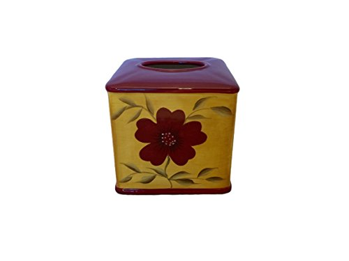 Tuscany Englishgarden Floral Ceramic Tissue Box Cover, 84687 by ACK