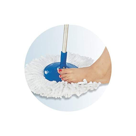 Oanik Stainless Steel and Plastic Mop Rod Stick | Mops For Floor Cleaning | 360 Degree Rotating Pole |Mop Stick Rod with
