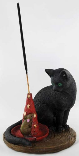 AzureGreen Magical Cat & Mouse Incense Holder
