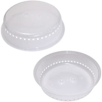 Pack of 2 Thin Microwave Plate Covers  sc 1 st  Amazon.com & Amazon.com: Nordic Ware 8 Inch Microwave Spatter Shield: Splatter ...