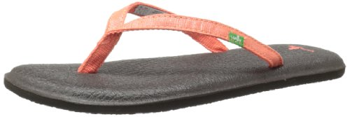 Sanuk Women's Yoga Spree 2 Flip Flop,Coral,7 M US