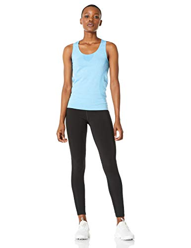 SHAPEWELL Workout Clothes Yoga Tops Workout Shirts Activewear Tank Tops Sports Gym Spandex Stretchy Quick Dry 2 Pack Black/Blue X Large