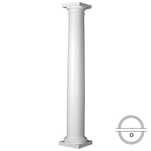 - Endura-Stone Round Tapered Column (FRP), Smooth Paint-Grade, Tuscan Capital & Base, 8