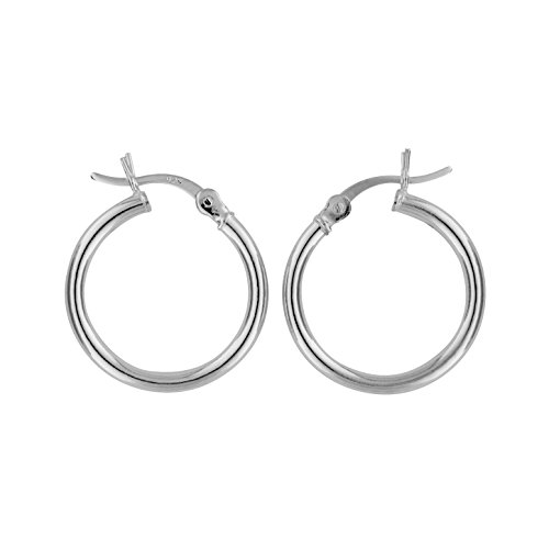 Stainless Steel Polished Curved Hoop Earrings 2mm x 25mm