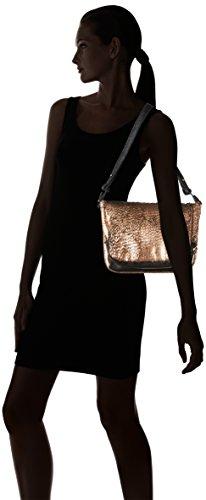 Liebeskind Berlin Suzuka Fringe - Cartera de mano Mujer Multicolor - Mehrfarbig (black ground/copper 99M2)