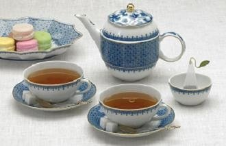 Mottahedeh Blue Lace Tea for Two Boxed Set