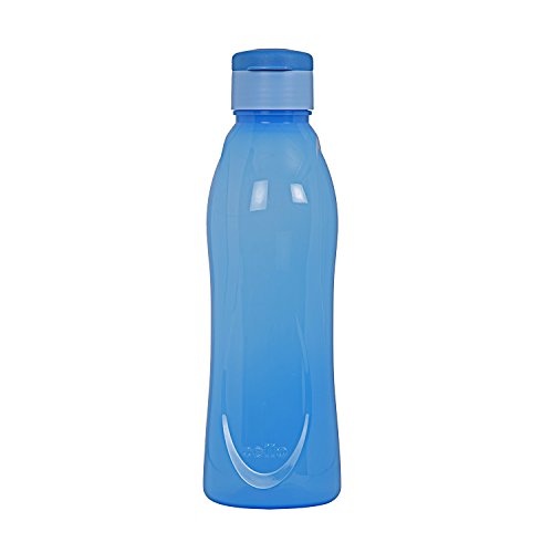 Cello Fresca Flip Polypropylene Bottle Set, 1 Litre, 4-Pieces, Blue