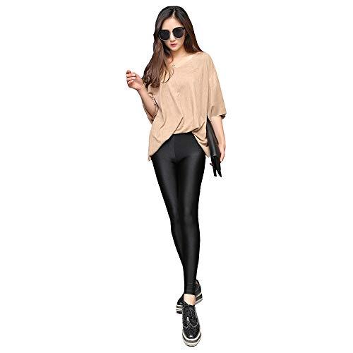 Black Leggings for Women High Waist Thinning Slimming Super Soft Flexible Shiny Casual Fitness Women Leggings