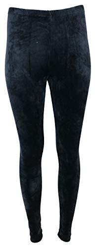 Gold Medal Fashion Women's Black Velour Leggings (Large)]()