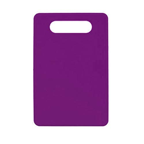 (Gyswshh Kitchen Chopping Block Solid Color Non-slip Cutting Plate Board Cooking Tool Purple)
